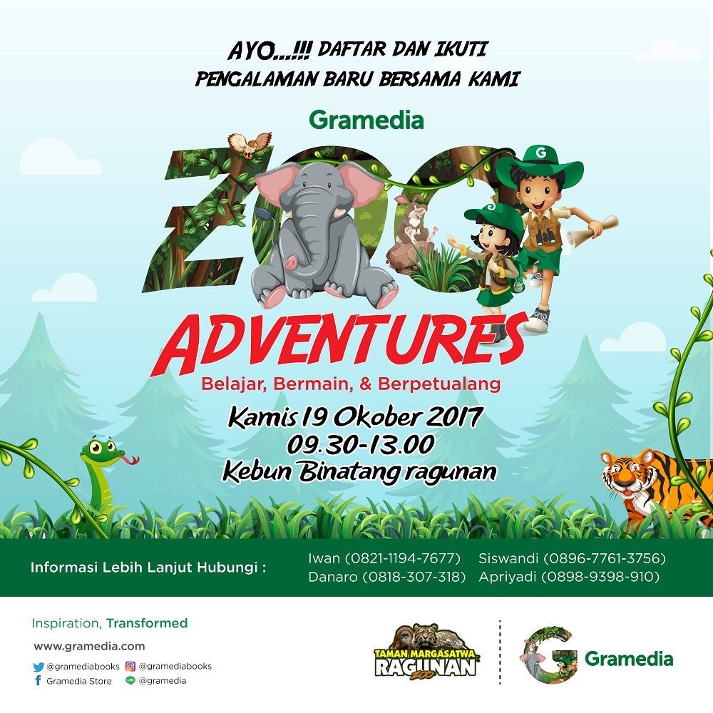 GRAMEDIA ZOO ADVENTURES 2017