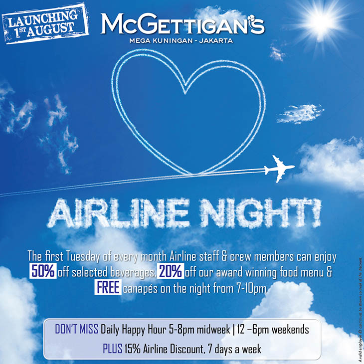 McGETTIGAN'S AIRLINE NIGHT
